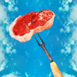 Eat the meat! — Stock Photo