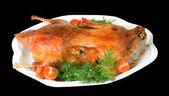 Hot roast duck for xmas — Stock Photo
