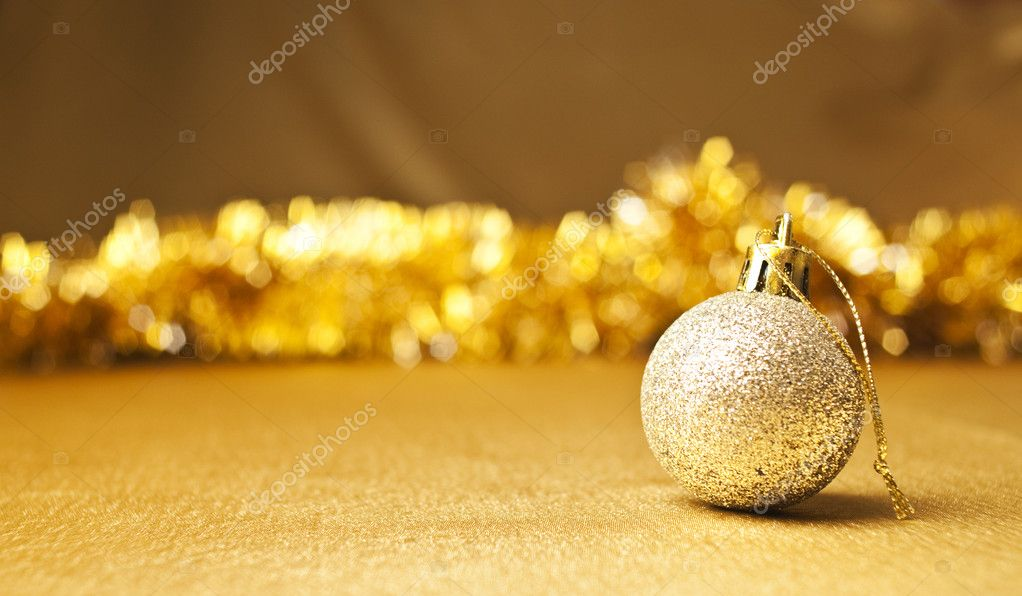 Festive New Year's golden background — Stock Photo #6791084