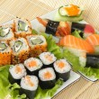 Stock Photo: Rolls and sushi.