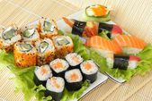 Rolls and sushi. — Stock Photo
