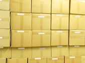 Packing boxes in a warehouse. — Stock Photo