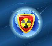 Radiation shield. — Stock Vector