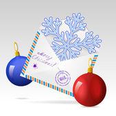 Christmas greetings. — Stock Vector