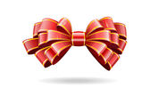 Red bow on a white background. — Stock Vector