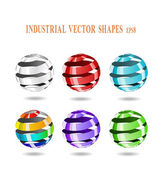Abstract spiral balls. — Stock Vector