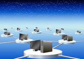Global computer network. — Stock Vector
