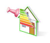 Energy efficient home. — Stock Vector