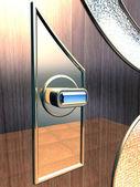 Modern door clench — Stock Photo