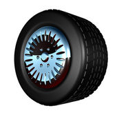 Wheel - Rendered 3D image — Stockfoto