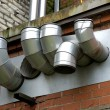 Stock Photo: Pipes of ventilation