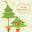 Royalty-Free Stock Vector Image: Christmas trees greeting card