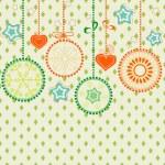 Retro Christmas background — Stock Vector