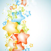Colorful shiny stars vector background — 图库矢量图片