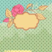 Vintage flower scrap template design — Stock Vector
