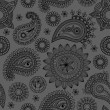 Royalty-Free Stock Vector Image: Black paisley seamless pattern