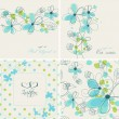 Cute floral backgrounds — Stock Vector