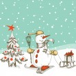 Royalty-Free Stock Imagen vectorial: Christmas card