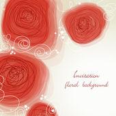 Romantic flowers background — Stock Vector