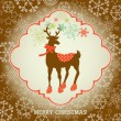 Christmas greeting card — Vector de stock #7146317