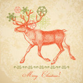 Vintage christmas card — Stockvector