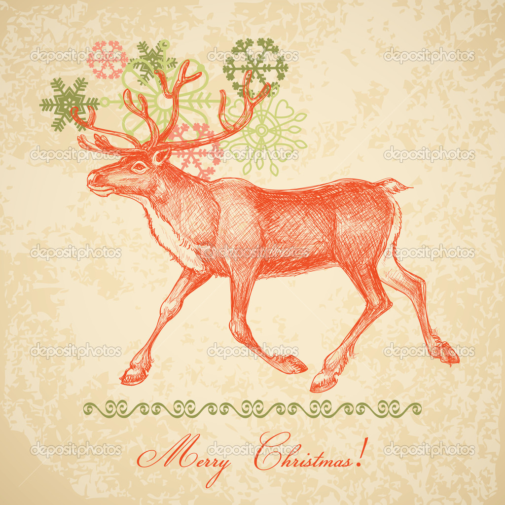 Vintage Christmas card — Stock Vector #7146349