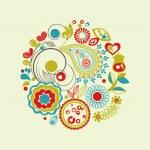 Vector floral circle — Stock Vector #7235432