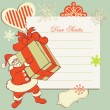 a letter to santa claus — Stock Vector
