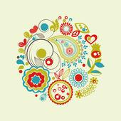 Vector floral circle — Stock Vector