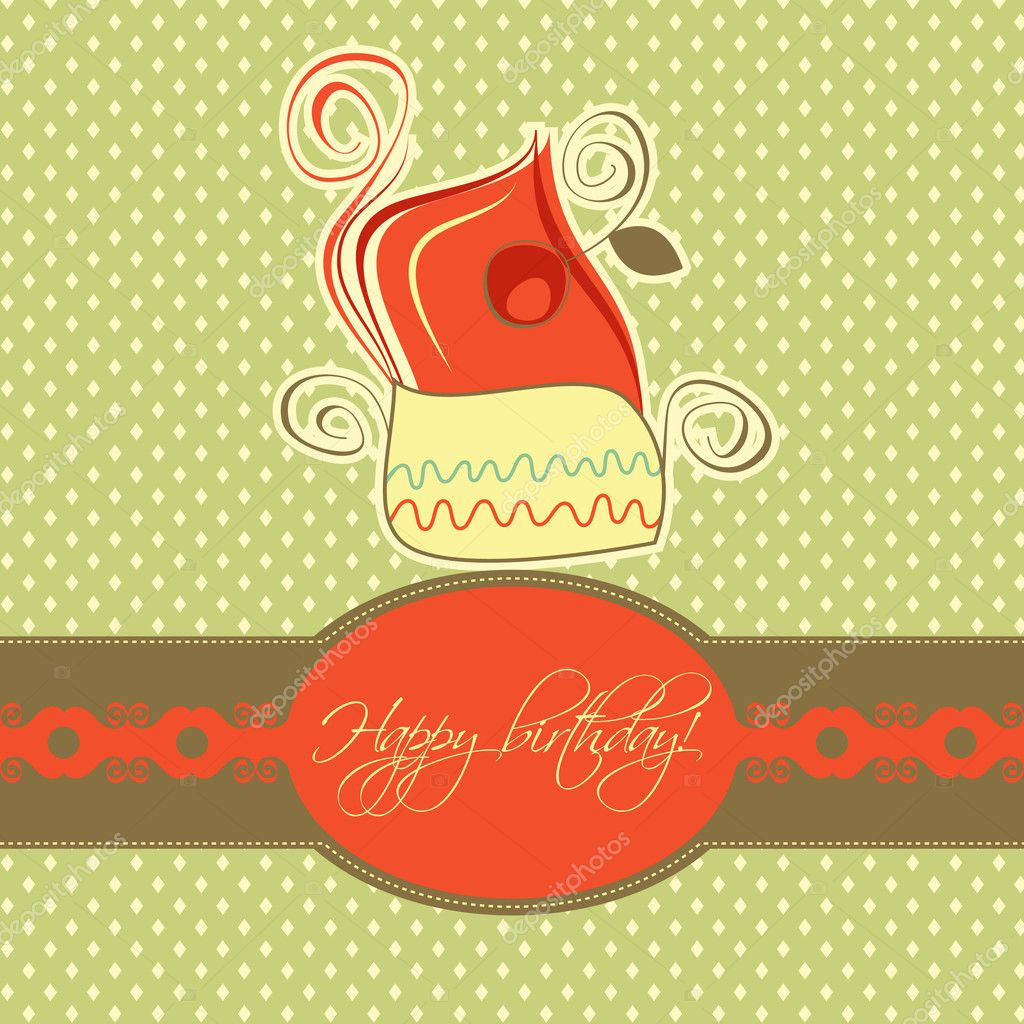 Cupcake card retro design   Stock Vector #7235276