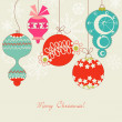 Cute Christmas balls — Stock Vector