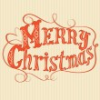 Merry Christmas text frame - Stock Vector