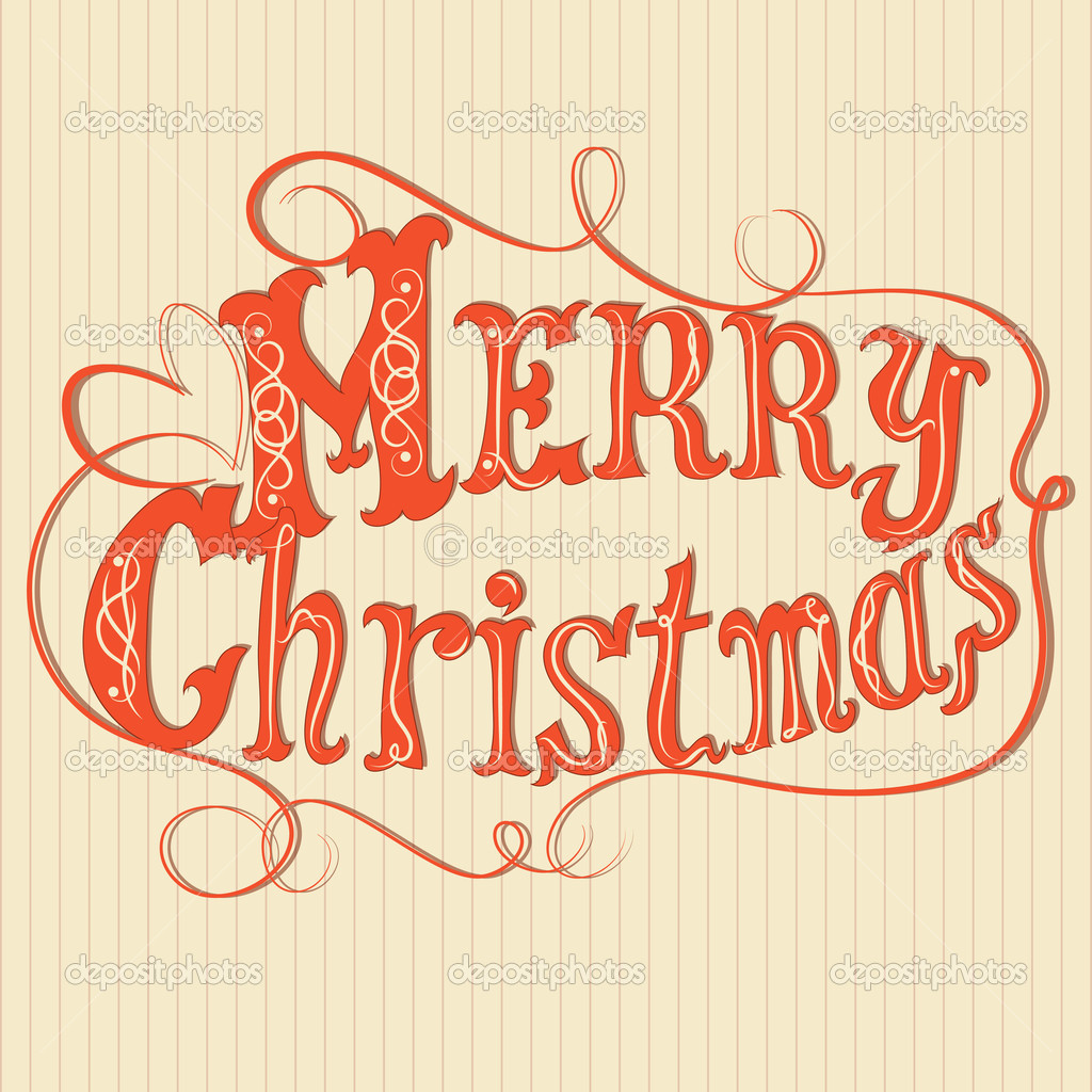Merry Christmas Fancy Writing | New Calendar Template Site