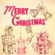 Royalty-Free Stock Imagem Vetorial: Retro Christmas card