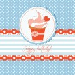 Royalty-Free Stock Vector Image: Cupcake greeting card for children