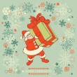 Royalty-Free Stock Vector Image: Santa Claus delivering gift