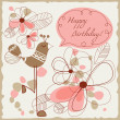 Happy birthday card for children - Stock Vector