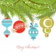 Vector de stock : Christmas ornaments vector background