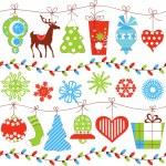 Vánoční bezešvé vzor přes bílý — Stock vektor
