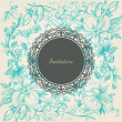 Royalty-Free Stock Vectorielle: Vintage floral background lace label