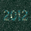 New year 2012 number made of snowflakes texture - Stock Vector