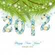 Stock Vector: New year 2012 background