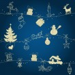 Royalty-Free Stock ベクターイメージ: Christmas seamless pattern