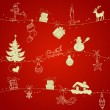 Royalty-Free Stock ベクターイメージ: Red Christmas seamless pattern