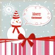 Christmas gift card — Vector de stock