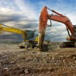 Excavator and digger - 