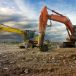 Excavator and digger - Stock Photo