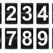 Set of black flip numbers — Stock Photo