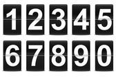 Set of black flip numbers — 图库照片