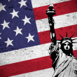 American grunge flag - Stock Photo